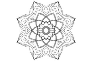 Print on Demand: Mandala Vector Art Coloring Page Graphic Coloring Pages & Books Adults By GraphicsFarm