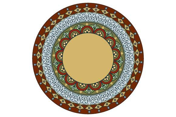 Download Free Mandala Vector Frame Colored Graphic By Graphicsfarm Creative for Cricut Explore, Silhouette and other cutting machines.