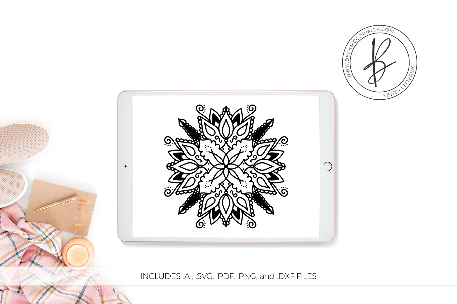 Download Free Mandala Graphic By Beckmccormick Creative Fabrica for Cricut Explore, Silhouette and other cutting machines.