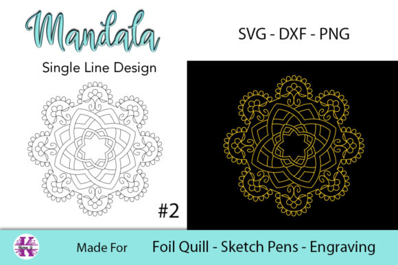 Print on Demand: Mandala for Foil Quill Graphic Crafts By Karen J - Image 1