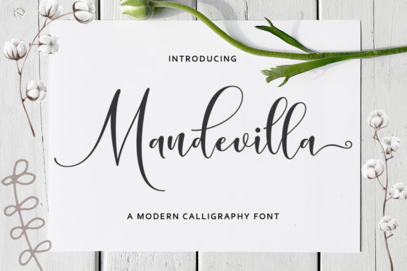 Print on Demand: Mandevilla Script Script & Handwritten Font By Zane Studio