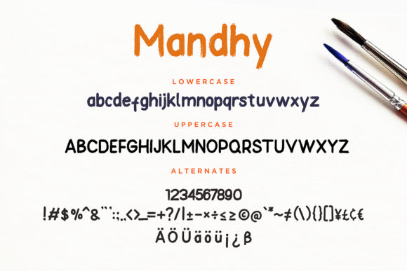 Print on Demand: Mandhy Sans Serif Font By CreatypeStudio