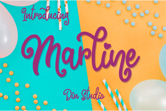 Print on Demand: Marline Script Script & Handwritten Font By Din Studio