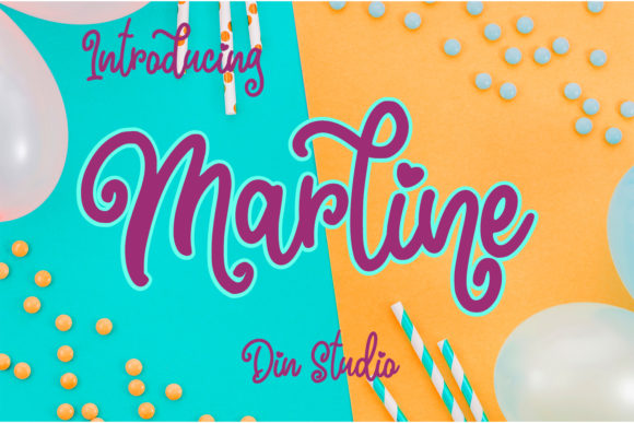 Print on Demand: Marline Script Script & Handwritten Font By Din Studio - Image 8