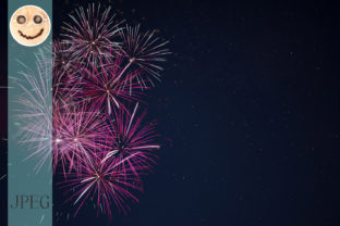 Maroon Red Pink Celebration Fireworks Graphic By TasiPas