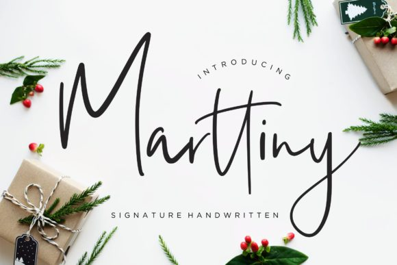 Print on Demand: Marttiny Script & Handwritten Font By CreatypeStudio