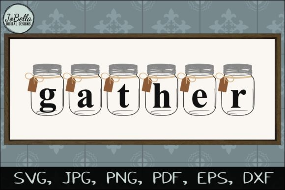 photograph about Gather Printable named Mason Jar Assemble SVG Printable