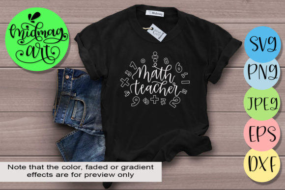 Math Teacher Graphic Objects By MidmagArt