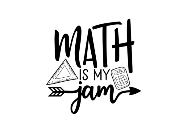 Download Free Math Is My Jam Svg Graphic By Thesmallhouseshop Creative Fabrica for Cricut Explore, Silhouette and other cutting machines.