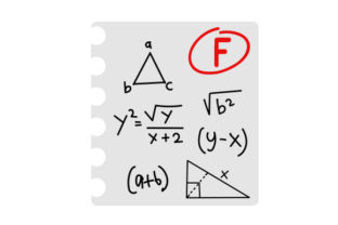 Math Test with an F Craft Design By Creative Fabrica Crafts