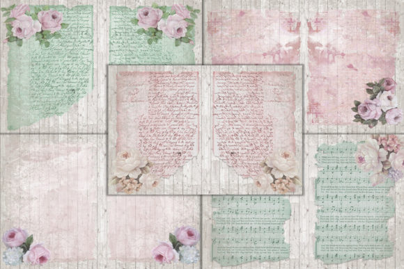 Print on Demand: Mega Scrapbooking Kit Free Backgrounds Graphic Crafts By The Paper Princess - Image 2