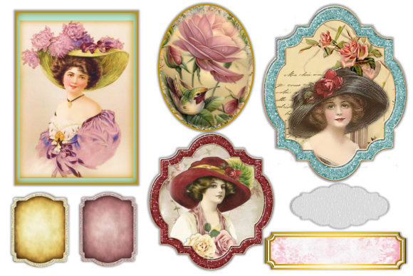 Print on Demand: Mega Scrapbooking Kit Free Backgrounds Graphic Crafts By The Paper Princess - Image 3