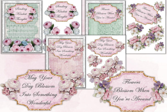 Print on Demand: Mega Scrapbooking Kit Free Backgrounds Graphic Crafts By The Paper Princess - Image 8