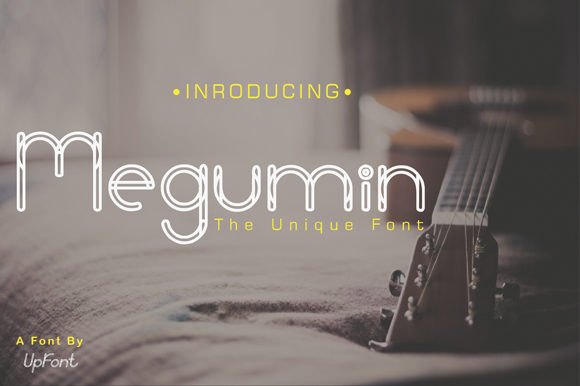 Print on Demand: Megumin Display Font By Up Font Studio