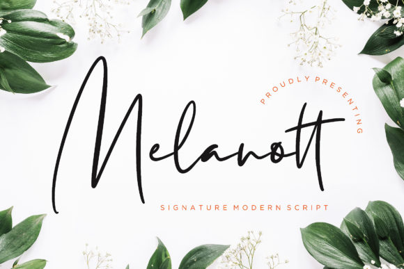 Print on Demand: Melanott Script & Handwritten Font By CreatypeStudio