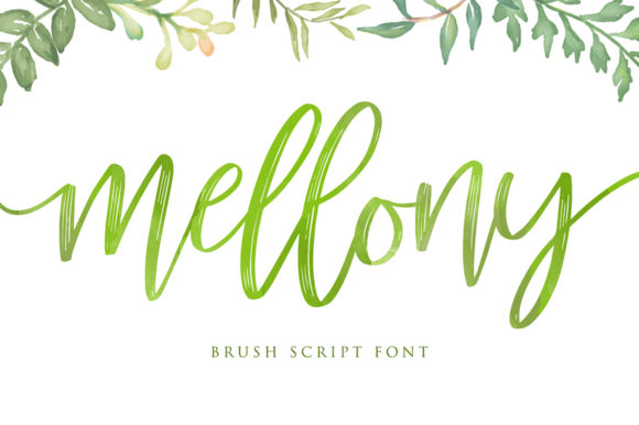 Print on Demand: Mellony Script & Handwritten Font By Alit Design
