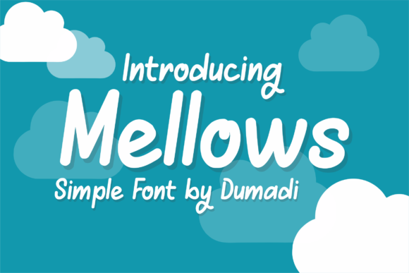 Print on Demand: Mellows Display Font By DUMADI - Image 1