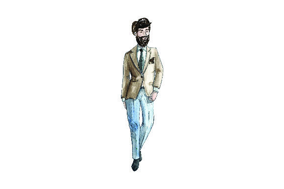 Download Free Men S Suit Professional Looking Fashion Illustrations In for Cricut Explore, Silhouette and other cutting machines.