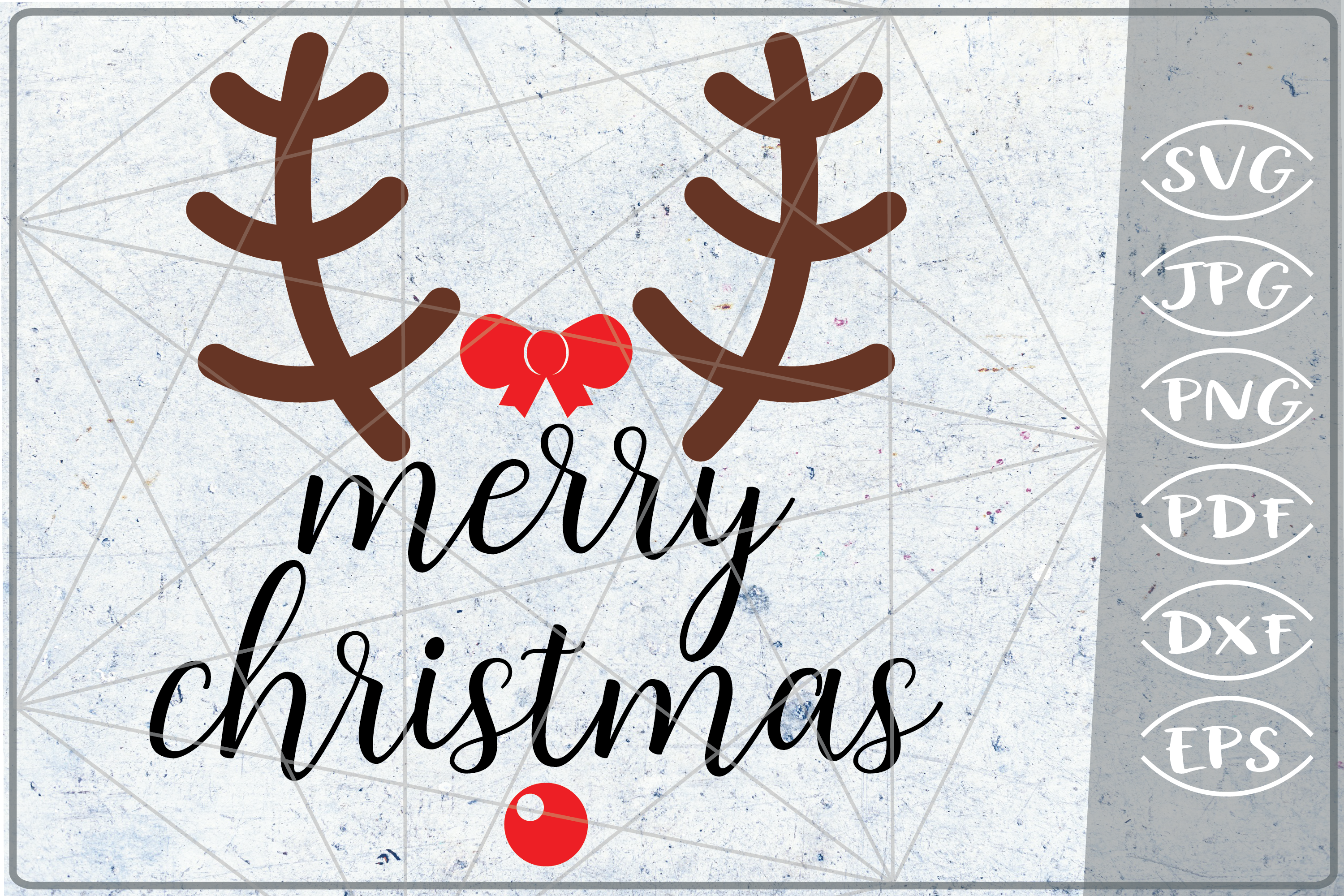Download Free Merry Christmas Quote Graphic By Cute Graphic Creative Fabrica for Cricut Explore, Silhouette and other cutting machines.