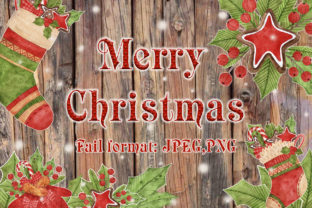 Merry Christmas Watercolor Set Graphic By Mari_artchef
