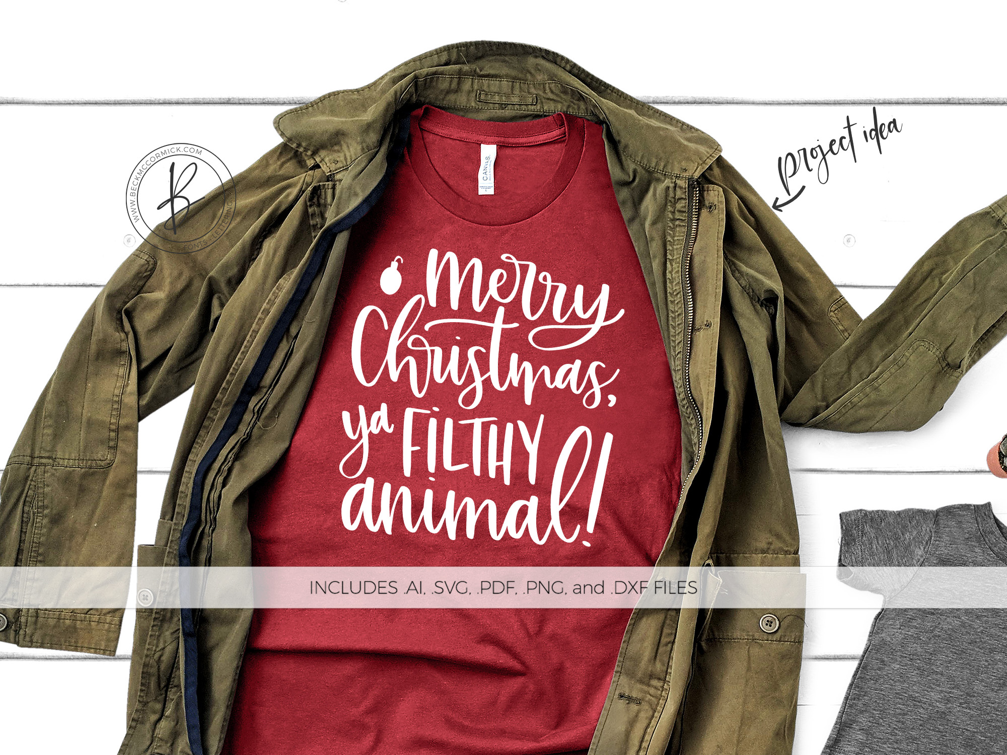 Download Free Merry Christmas Ya Filthy Animal Graphic By Beckmccormick Creative Fabrica for Cricut Explore, Silhouette and other cutting machines.