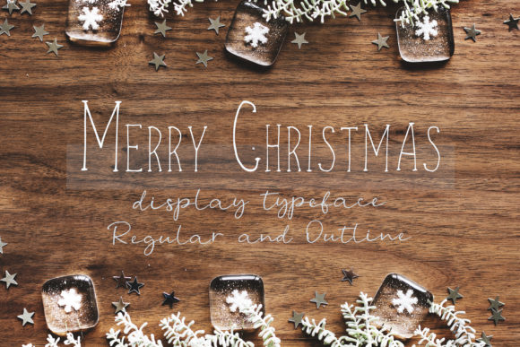 Print on Demand: Merry Christmas Display Font By Primafox Design