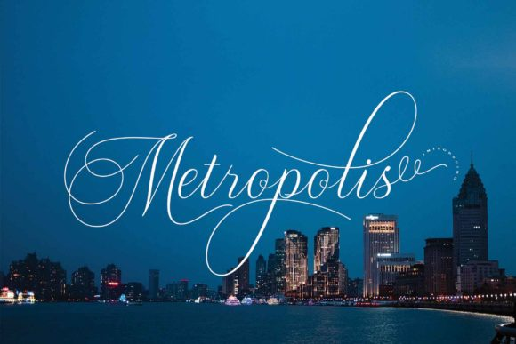 Print on Demand: Metropolis Script & Handwritten Font By Ageless Type