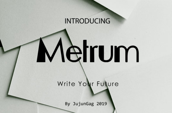 Print on Demand: Metrum Sans Serif Font By Gens Creatif Store