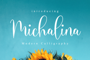 Print on Demand: Michalina Script Script & Handwritten Font By NissaStudio
