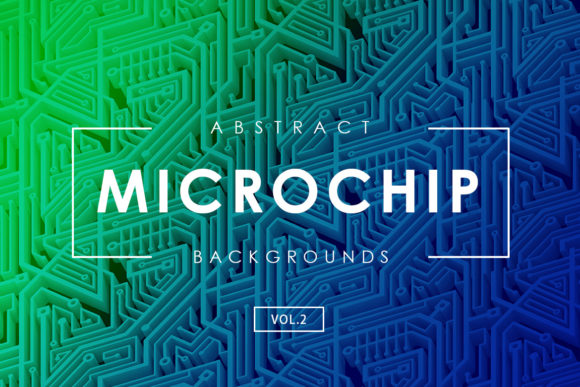 Print on Demand: Microchip Backgrounds Vol.2 Graphic Backgrounds By ArtistMef
