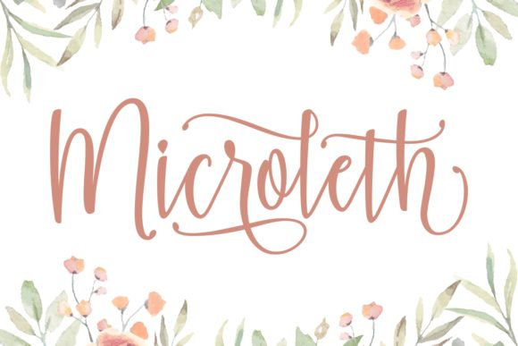 Print on Demand: Microleth Script & Handwritten Font By Keithzo (7NTypes)