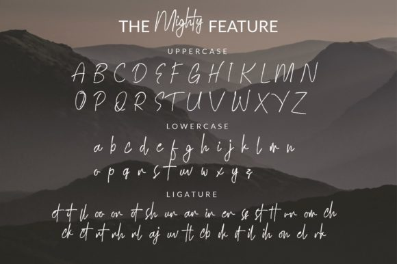 Print on Demand: Mighty Script & Handwritten Font By Yusuf Artworks - Image 2