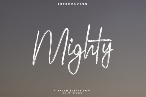 Print on Demand: Mighty Script & Handwritten Font By Yusuf Artworks - Image 1
