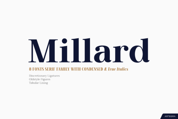 Print on Demand: Millard Sans Serif Font By Artegra - Image 1