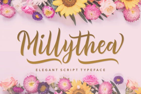 Print on Demand: Millythea Script & Handwritten Font By Situjuh - Image 1