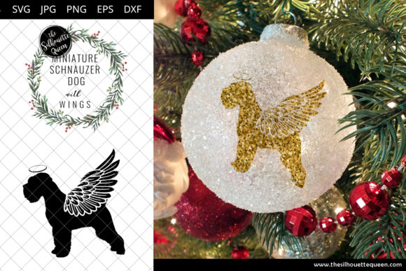 Download Free Miniature Schnauzer Dog 8 With Wings Graphic By for Cricut Explore, Silhouette and other cutting machines.