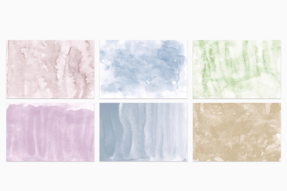Minimalist Watercolor Backgrounds Vol. 1 (Graphic) by ...