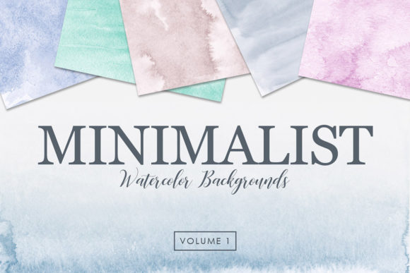 Print on Demand: Minimalist Watercolor Backgrounds Vol. 1 Graphic Backgrounds By ArtistMef