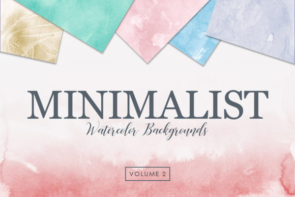 Print on Demand: Minimalist Watercolor Backgrounds Vol. 2 Graphic Backgrounds By ArtistMef