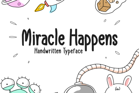 Print on Demand: Miracle Happens Display Font By Shattered Notion