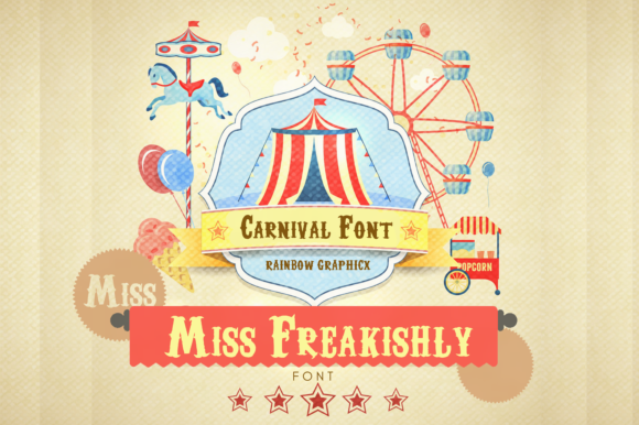 Miss Freakishly Sans Serif Font By RainbowGraphicx