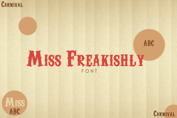 Print on Demand: Miss Freakishly Sans Serif Font By RainbowGraphicx  - Image 2