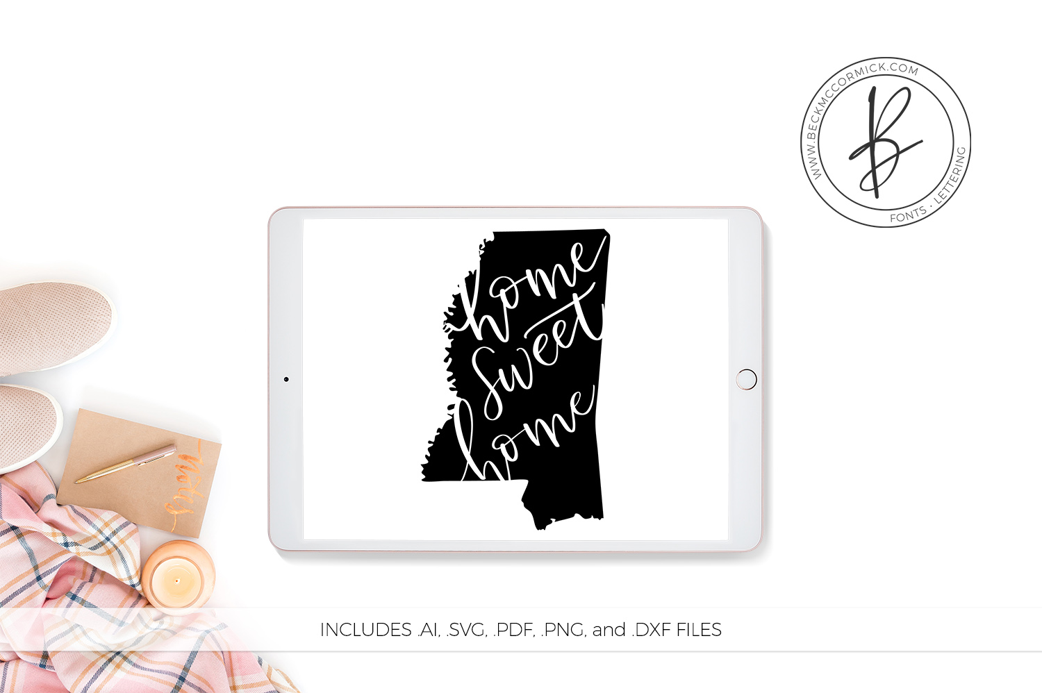 Download Free Mississippi Home Sweet Home Graphic By Beckmccormick Creative for Cricut Explore, Silhouette and other cutting machines.