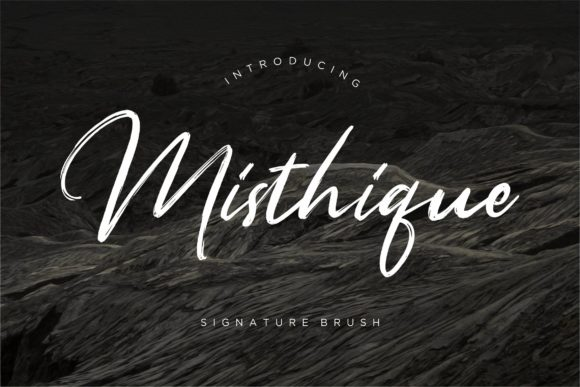 Print on Demand: Misthique Script & Handwritten Font By CreatypeStudio