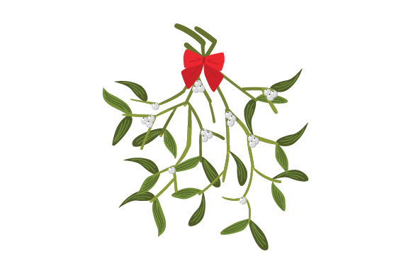 Mistletoe Sprig With Red Bow Svg Cut File By Creative Fabrica Crafts Creative Fabrica