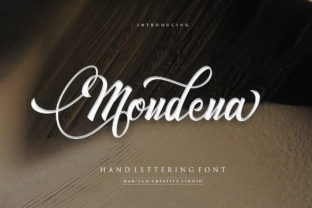 Print on Demand: Mondena Script & Handwritten Font By HansCo