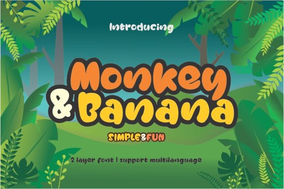 Print on Demand: Monkey & Banana Sans Serif Font By creativework69