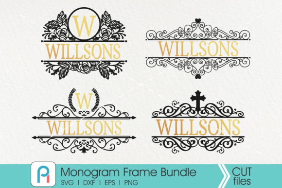 Monogram Frame Graphic Crafts By Pinoyartkreatib
