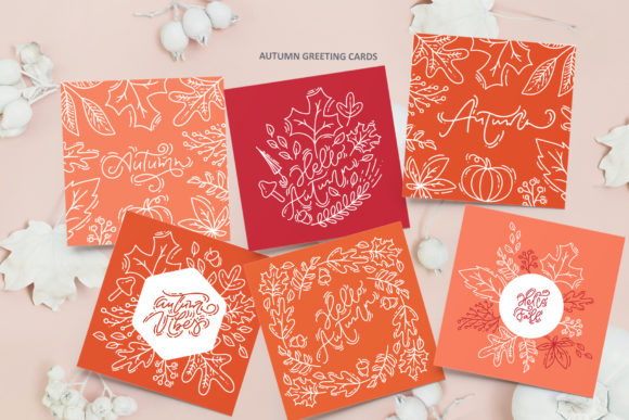Monoline Vector Autumn Floral Elements Graphic Objects By Happy Letters - Image 6