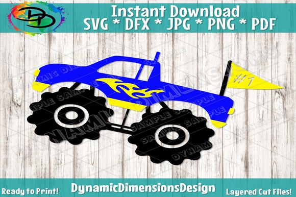 Download Free Monster Truck Monster Truck S Grafico Por Dynamicdimensions for Cricut Explore, Silhouette and other cutting machines.